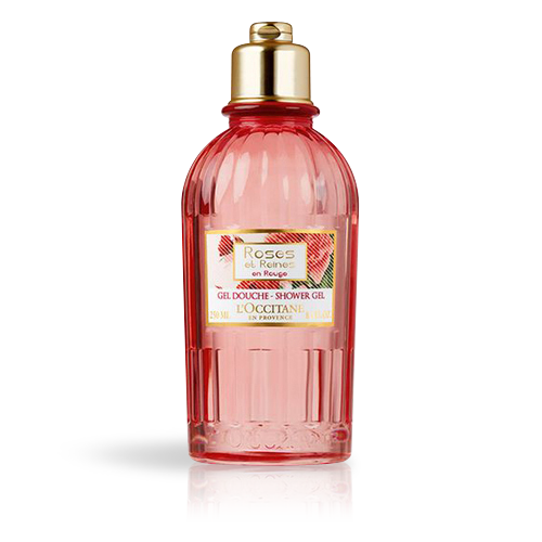 ROSES ET REINES ROUGE SHOWER GEL 250ML