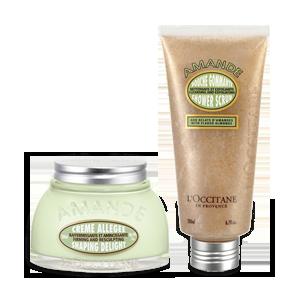 Duo Almond Shower Scrub en Almond Shaping Delight