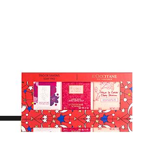 Floral Kerst Soap Trio | L'OCCITANE