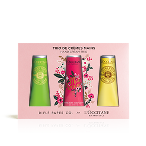 Shea Rifle Paper Co. Handcrème trio | L'OCCITANE