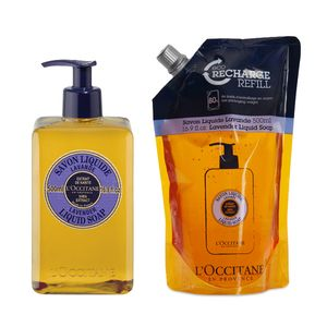 Uw Lavender Liquid Soap en Eco-Refill Duo