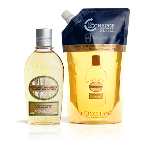 Almond Shower Oil en Eco-Refill