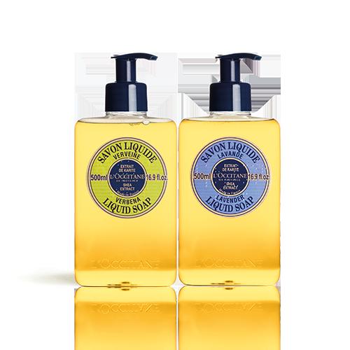 Duo Shea Butter Verbena & Lavender Liquid Soap