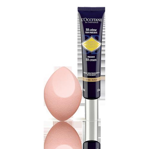 Immortelle Precious BB Cream SPF30 - Medium shade + Make up Sponge