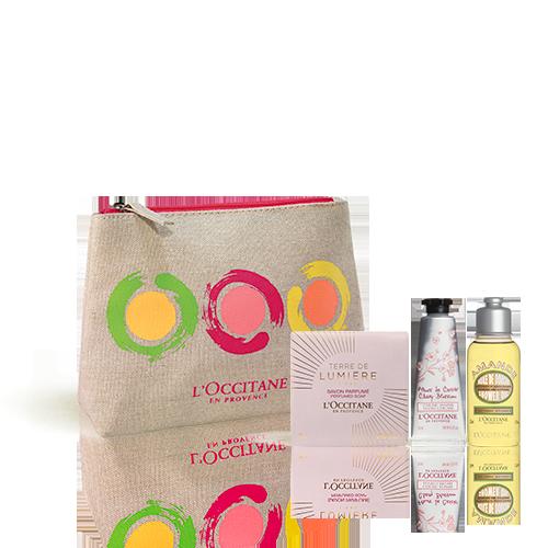 Uw kleurrijke tasje met 3 producten