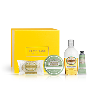 Almond Delightful body balm giftset - Shower shake