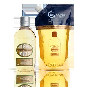 Almond Shower Oil en Eco-Refill | Hydratatie lichaam
