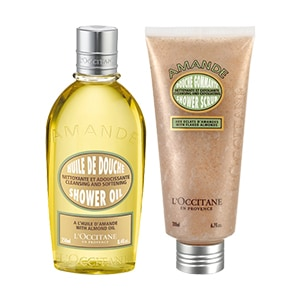 Almond Shower Oil & Shower Scrub Duo