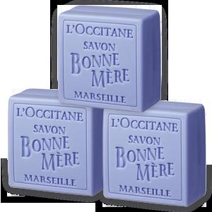 Bonne Mère Lavender Soap Trio