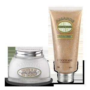 Duo Almond Shower Scrub en Almond Milk Concentrate
