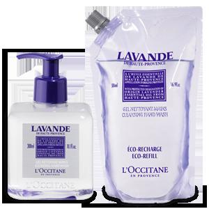 Duo Lavender Cleansing Hand Gel en de Eco-Refill