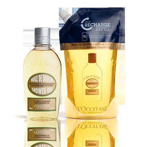 Almond Shower Oil en Eco-Refill