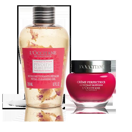 Pivoine Sublime Duo:  Petal Cleansing Oil & Pivoine Perfecting Cream