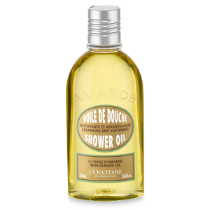 Cleansing and softening shower oil
