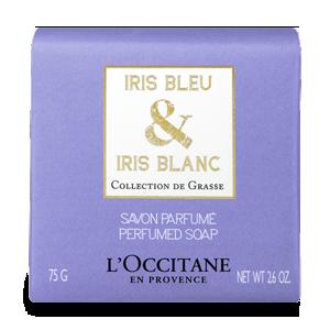 Perfumowane mydło Irys niebieski & Iris biały