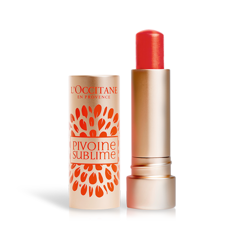 Upiększający balsam koloryzujący do ust Peonia Red Orange