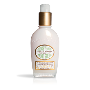 L'Occitane Almond Velvet Body Serum, a body serum to help with anti-aging and dark spot correction