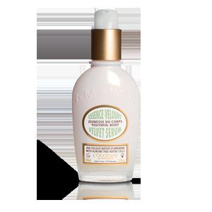 L'Occitane Almond Velvet Body Serum, a body serum to help with anti-aging and dark spot correction