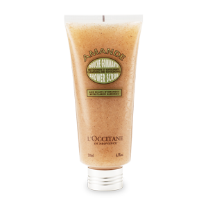 L'Occitane Almond Shower Scrub, an almond exfoliating scrub to gently cleanse and exfoliate the skin
