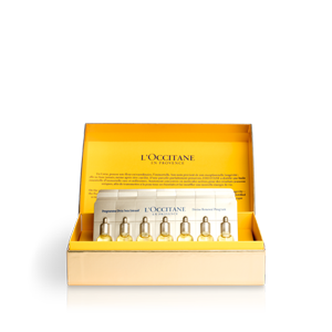 L'Occitane's 28 Day Divine Renewal Program, an advanced anti-aging skin care routine