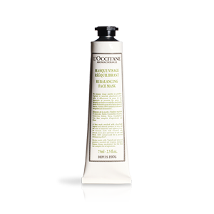 Tube of Aromachologie Rebalancing Face Mask, a natural face mask that cleanses and tightens pores.