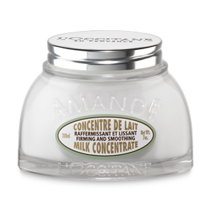 L'Occitane Almond Milk Concentrate, a body firming cream to moisturize and soften skin