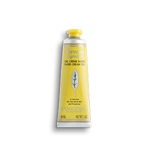 L'Occitane Citrus Verbena hand cream is a moisturizing gel that heals and cools down dry hands