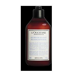 Sticla de Aromacologie Gel de dus Relaxant, un gel care curata delicat pielea
