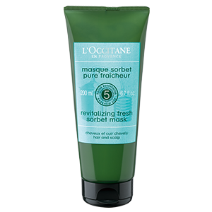 L'Occitane's Revitalizing Fresh Sorbet Mask, with a sorbet texture