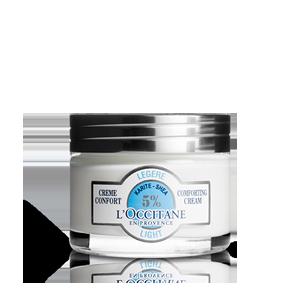 L'Occitane shea butter light comforting moisturizing cream for combination skin