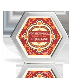 Lumanari parfumate luxuriante Fructe Confiate, de la L'occitane.