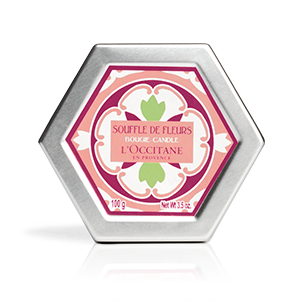 Luxury floral scented French candles from L'Occitane White Blossom