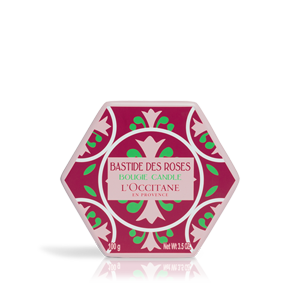 Luxury rose scented French candles from L'Occitane