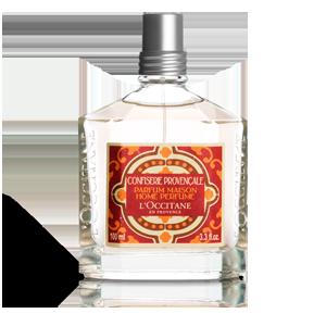Parfum pentru casa luxuriant fructe confiate, de la L'Occitane.