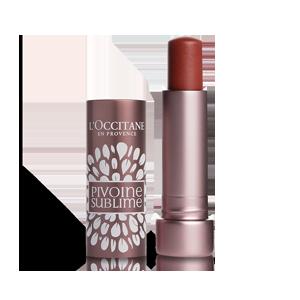 L'Occitane Tinted Lip Beauty Balm, an amber lip balm for nourishing lips