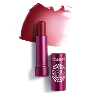 L'Occitane Tinted Lip Beauty Balm, a plum lip balm for nourishing lips