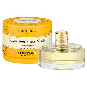 Bottle of Jasmine Immortelle Neroli Eau de Toilette perfume, a floral and feminine fragrance.
