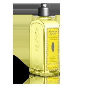 Citrus Verbena Fresh shampoo is made with organic verbena, purifying lemon essential oil and cider vinegar