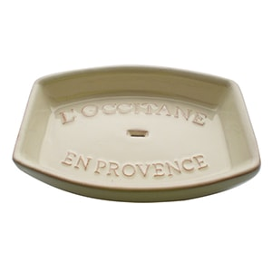 Rectangular Cream Soap Dish