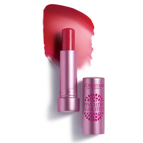 Loccitane Бальзам для губ Пион, розовый