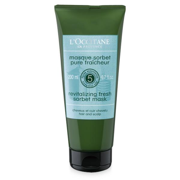 Loccitane Маска-сорбет для волос Аромакология Живительная Свежесть