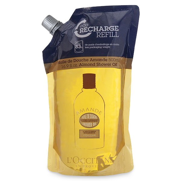 Масло для душа увлажняющее Миндальное (сменный блок) (LOccitane)