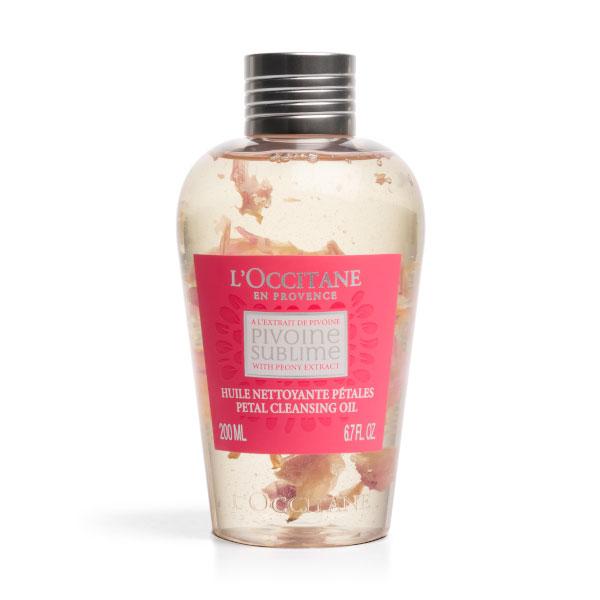 Loccitane Очищающее масло для лица с лепестками Пиона