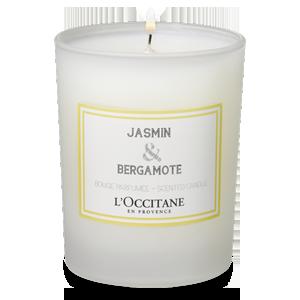 Jasmin & Bergamote Scented Candle