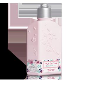 Lepotilno mleko za telo Sveži češnjevi cvetovi