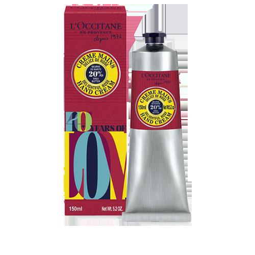 Rose shea hand cream - 40th anniversary limited edition