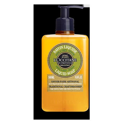 Течен сапун за ръце с масло от карите и върбинка
