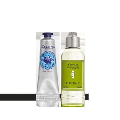 Duo Hygiene-Handgel & Sheabutter Handcreme