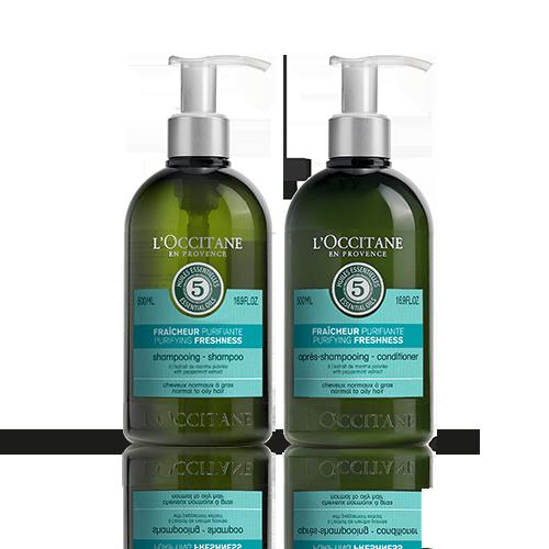 Duo Aromachologie Pure Frische Shampoo und Haarspülung