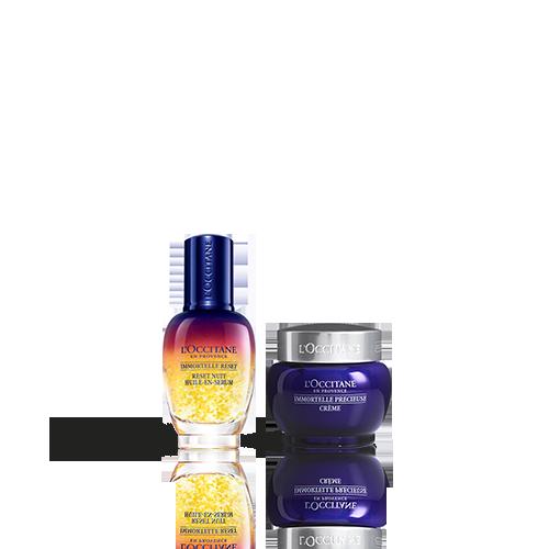 Duo Immortelle Overnight Reset Öl-in-Serum & Creme Précieuse